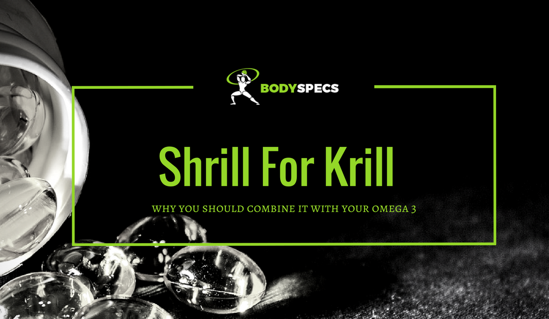 Shrill For Krill - featured image, bottle of fish oil in background